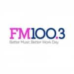 Logo da emissora KSFI 100.3 FM