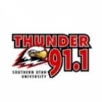 Logo da emissora KSUU 91.1 FM