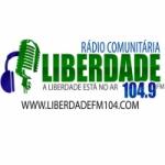 Logo da emissora Rádio Liderdade 104.9 FM