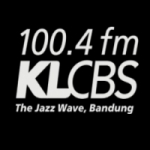 Logo da emissora KLCBS 100.4 FM