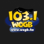 Logo da emissora WOGB 103.1 FM
