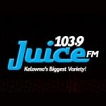 Logo da emissora Radio CJUI Juice 103.9 FM