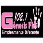 Logo da emissora Rádio Gênesis 102.1 FM