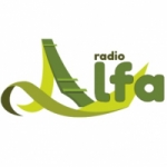 Logo da emissora Radio Alfa 98.6 FM