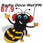 Logo da emissora Rádio Doce Mel 87.9 FM