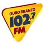 Logo da emissora Rádio Ouro Branco 102.7 FM