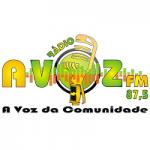 Logo da emissora Rádio A Voz 87.5 FM