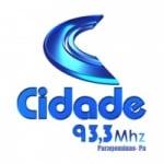 Logo da emissora Radio Sistema Cidade 93.3 FM