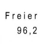 Logo da emissora F.R.E.I 96.2 FM