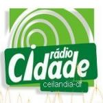 Logo da emissora Rádio Cidade FM Ceilândia