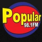 Logo da emissora Rádio Popular 98.1 FM