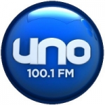 Logo da emissora Radio Uno 100.1 FM