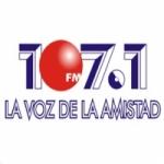 Logo da emissora Radio La Voz Amistad 107.1 FM