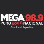 Logo da emissora Radio Mega 98.9 FM