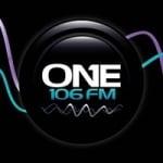 Logo da emissora Radio One 106.3 FM