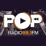 Logo da emissora Radio Pop 99.1 FM