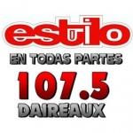 Logo da emissora Radio Estilo Daireaux 107.5 FM