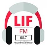 Logo da emissora Radio Lif 98.7 FM