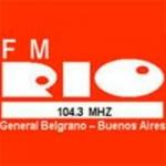 Logo da emissora Radio Río 104.3 FM