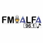 Logo da emissora Radio Alfa 96.1 FM