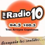 Logo da emissora Radio 10 100.3 FM