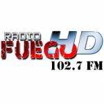 Logo da emissora Radio Fuego 102.7 FM