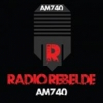 Logo da emissora Radio Rebelde 740 AM