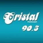 Logo da emissora Radio Cristal 90.5 FM