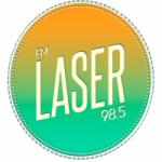 Logo da emissora Radio Láser 98.5 FM