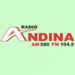 Logo da emissora Radio Andina 580 AM 104.5 FM