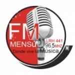 Logo da emissora Radio Mensú 96.5 FM