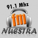 Logo da emissora Radio Nuestra 91.1 FM