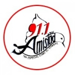 Logo da emissora Radio Amistad 91.1 FM