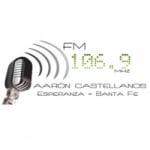 Logo da emissora Radio Aarón Castelleanos 106.9 FM