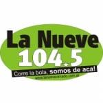 Logo da emissora Radio La Nueve 104.5 FM