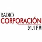 Logo da emissora Radio Corporación 91.1 FM