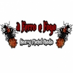 Logo da emissora Rádio Rock a Ferro e Fogo