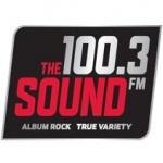 Logo da emissora KSWD 100.3 FM The Sound