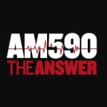 Logo da emissora KTIE 590 AM The Answer