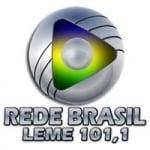 Logo da emissora Rede Brasil 101.1 FM
