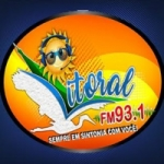Logo da emissora Rádio Litoral 93.1 FM