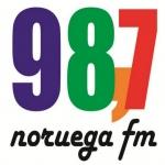 Logo da emissora Rádio Noruega 98.7 FM
