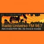 Logo da emissora Radio Universo 98.7 FM