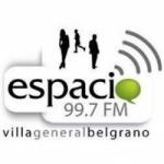 Logo da emissora Radio Spacio 99.7 FM