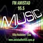 Logo da emissora Radio Amistad 95.5 FM