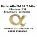 Logo da emissora Radio Alfa Noticias 91.7 FM