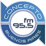 Logo da emissora Radio Concepto 95.5 FM