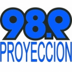 Logo da emissora Radio Proyeccion 98.9 FM