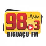 Logo da emissora Rádio Biguaçu 98.3 FM