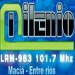 Logo da emissora Radio Milenio  101.7 FM